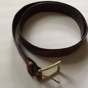 Brighton Gold Tone Brown Belt